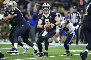 Drew Brees in action for the New Orleans Saints.