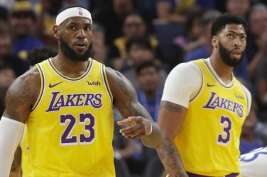 LeBron James and Anthony Davis for the Lakers.
