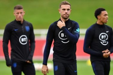 Jordan Henderson training before England play Czech Republic