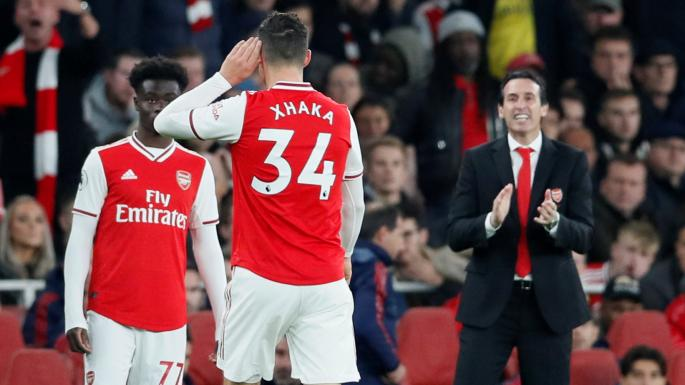 Granit Xhaka substituted by Arsenal