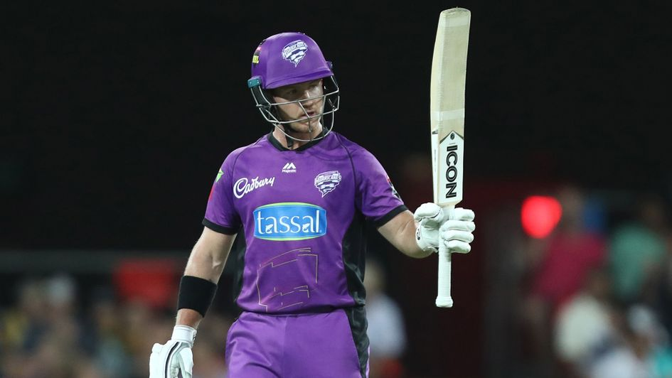 Hobart Hurricanes player with cricket bat.