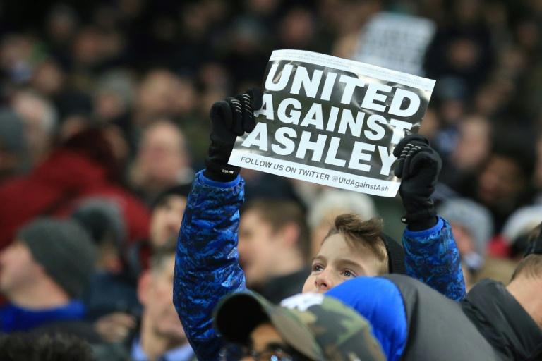 United against Ashley sign - Newcastle United