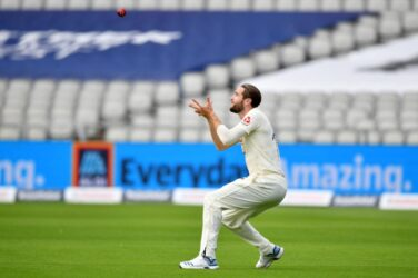 Chris Woakes takes a catch against Pakistan