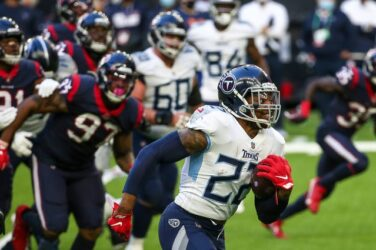 Derrick Henry in action for the Tennessee Titans